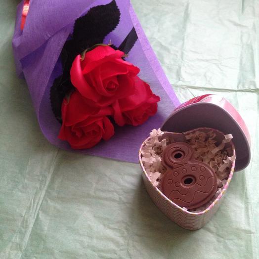 Мыльные розы и шоколадка