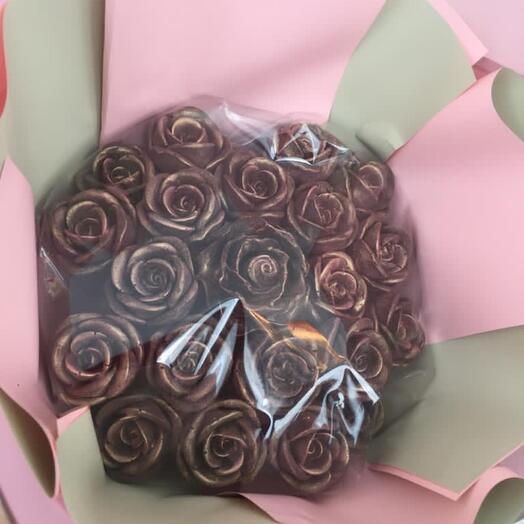 Букет из 21 шоколадной розы