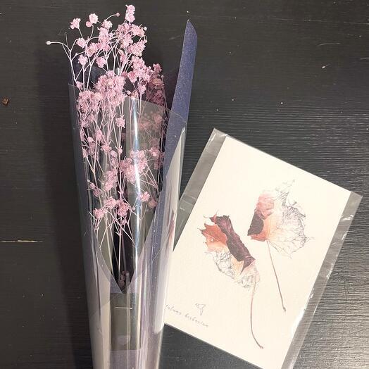 Набор букет + открытка