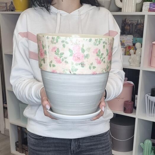 Горшок керамический Шебби-Шик