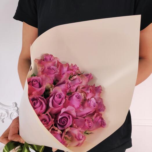 Букет из 21 Лавандовой розы