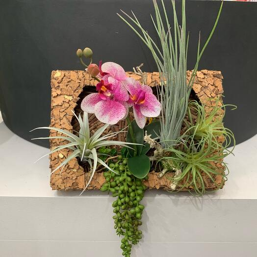ECO painting of artificial flowers 3D