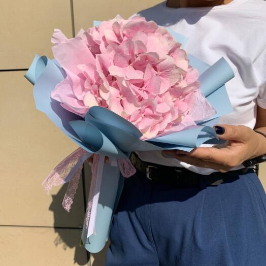 Букет Розовой Гортензии