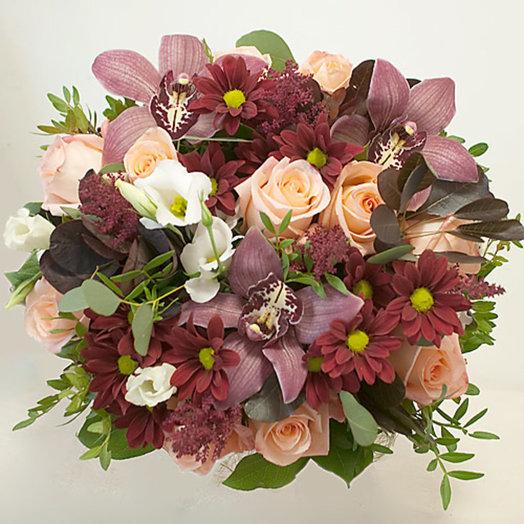 Букет из коричневые орхидеи мк