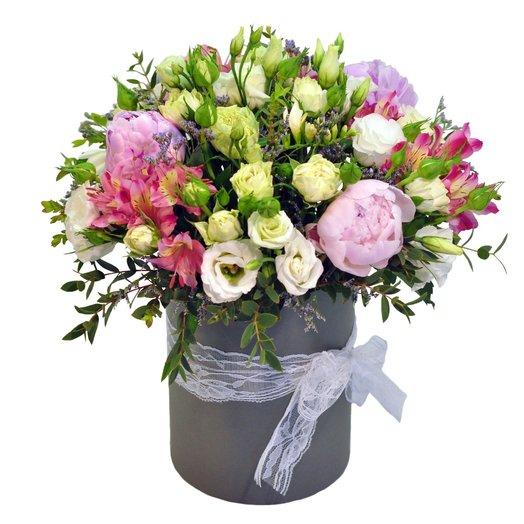 Букет Мелисса в шляпной коробке: букеты цветов на заказ Flowwow