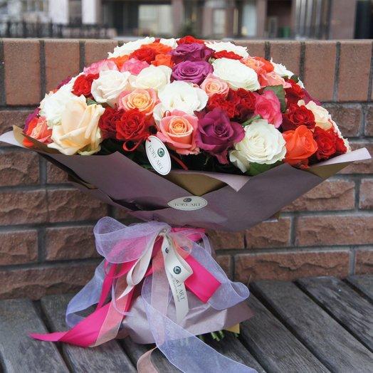 Розовое ассорти: букеты цветов на заказ Flowwow