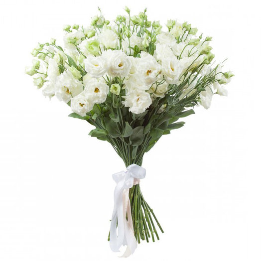 11 Белых Эустом: букеты цветов на заказ Flowwow