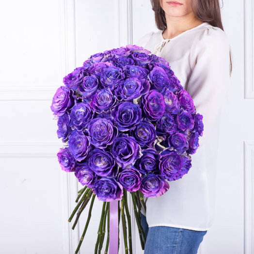 Розы Хамелены в максибоксе : букеты цветов на заказ Flowwow