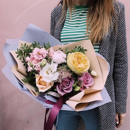 Букет «чернично-лимонный мусс»: букеты цветов на заказ Flowwow