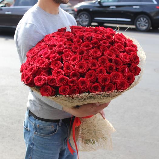 Роскошный букет из101красной розы