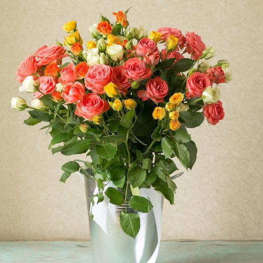 Танец маленьких роз: букеты цветов на заказ Flowwow