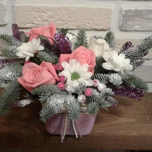 Пушистое Роздество: букеты цветов на заказ Flowwow