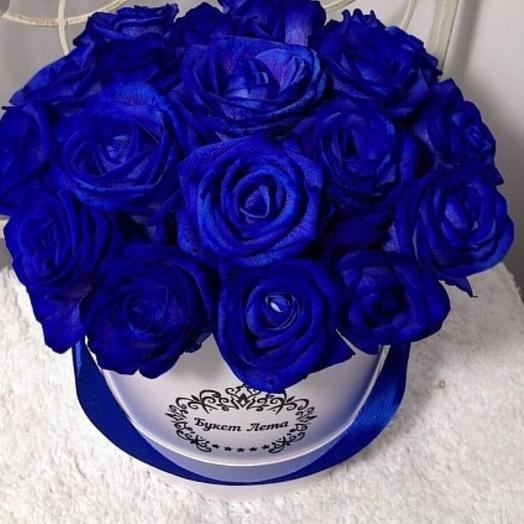 Необычные синие розы: букеты цветов на заказ Flowwow