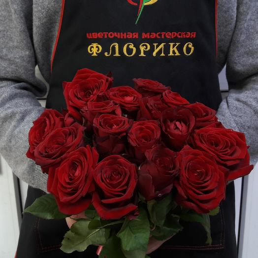 Красная Роза 15: букеты цветов на заказ Flowwow
