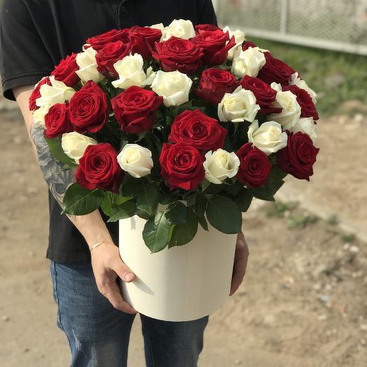 Большая Коробка Роз Микс: букеты цветов на заказ Flowwow
