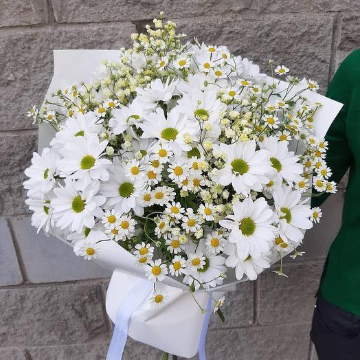Ромашковый букет: букеты цветов на заказ Flowwow