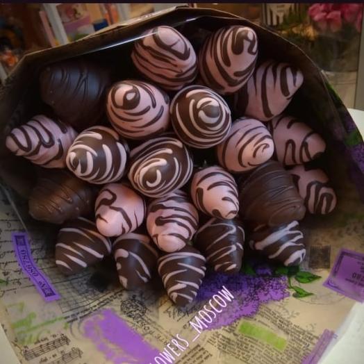 Клубничный букетик Вкусняшки 3: букеты цветов на заказ Flowwow