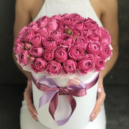 Пионовидные розы 35 штук