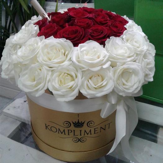 Шикарная Коробка роз: букеты цветов на заказ Flowwow
