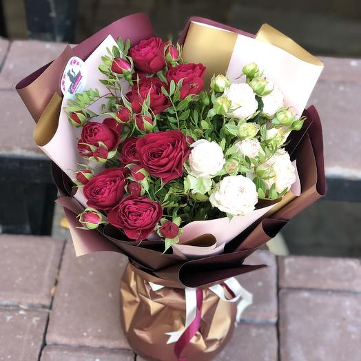 Красно белое: букеты цветов на заказ Flowwow