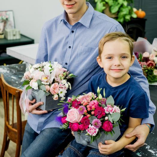 Ящик «Сердечная благодарность»: букеты цветов на заказ Flowwow