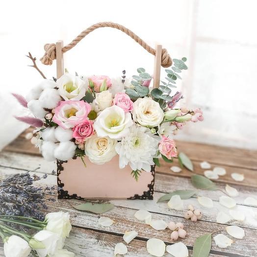 Ящичек микс: букеты цветов на заказ Flowwow