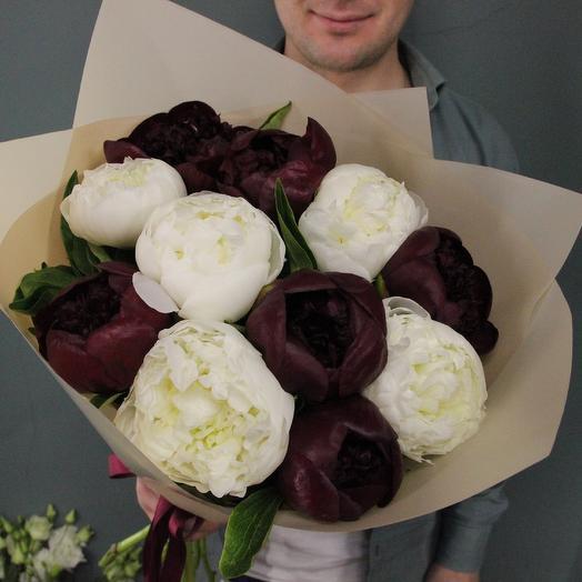 Burgundy and white: букеты цветов на заказ Flowwow
