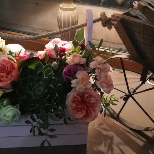 """коробка с цветами """"ящик с цветами"""""""
