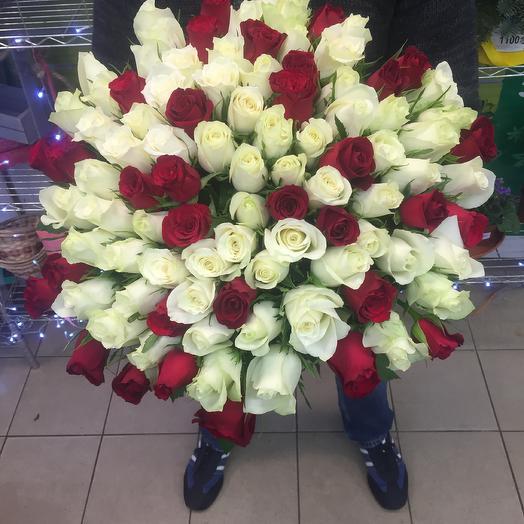 101 роза Кения: букеты цветов на заказ Flowwow