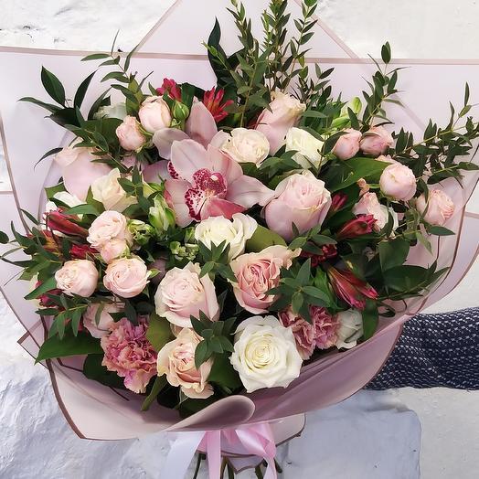 Букет Для единственной, с розой