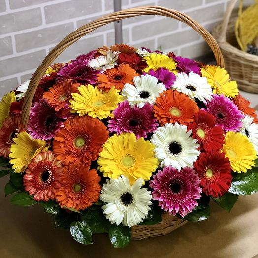 XXL корзина из Гербер: букеты цветов на заказ Flowwow
