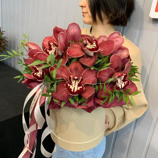 """Экзотические орхидеи """"Знойный поцелуй"""": букеты цветов на заказ Flowwow"""