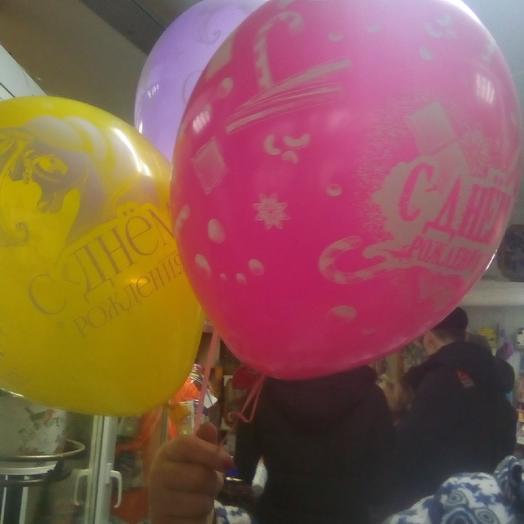 Набор шаров с днём рождения для девочки