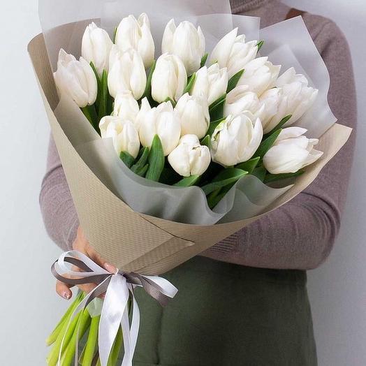 Белый тюльпан 19