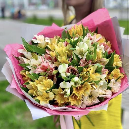 Позитивный букет: букеты цветов на заказ Flowwow