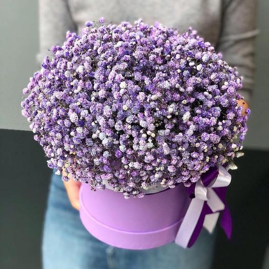 Коробка из гипсофилы: букеты цветов на заказ Flowwow