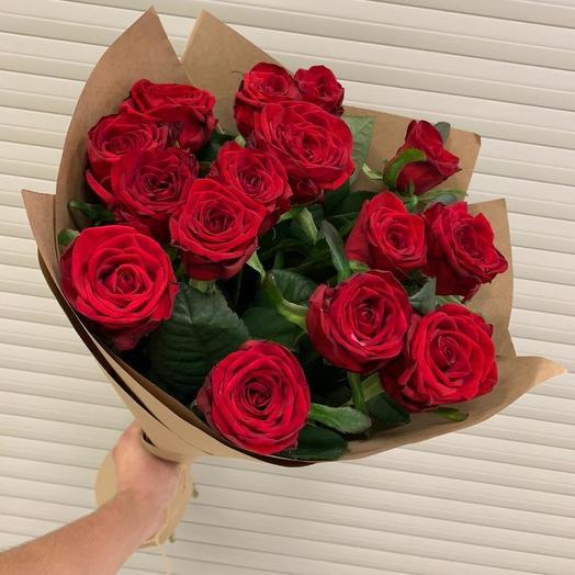 15 красная роза
