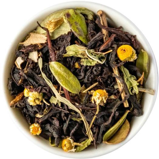 Черный чай с травами и кленовым сиропом - С легким паром
