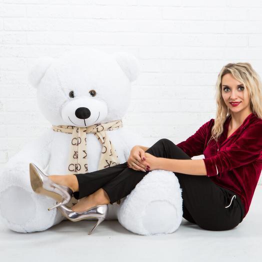 Мишка 150 см  «Тауер смал» белый