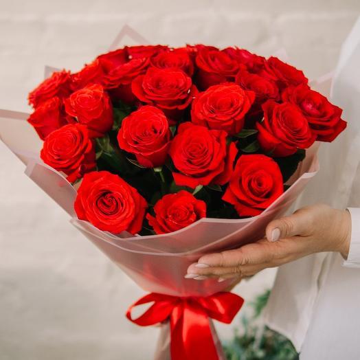 """Букет из 25 роз  """"Нина Декор """""""