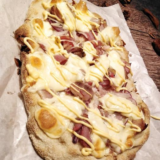 Римская пицца Карбонара Чиз