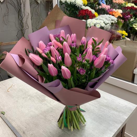 Тюльпаны с оформлением🌸