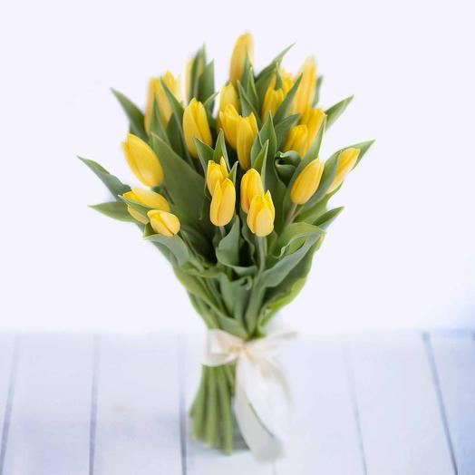 21 желтый тюльпан