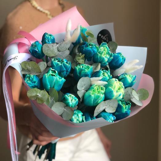 Синие тюльпаны 🌷