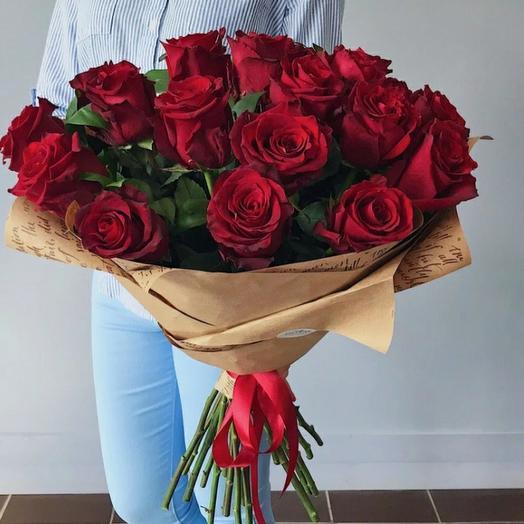 Розы 21 шт Эквадор премиум класса 80 см