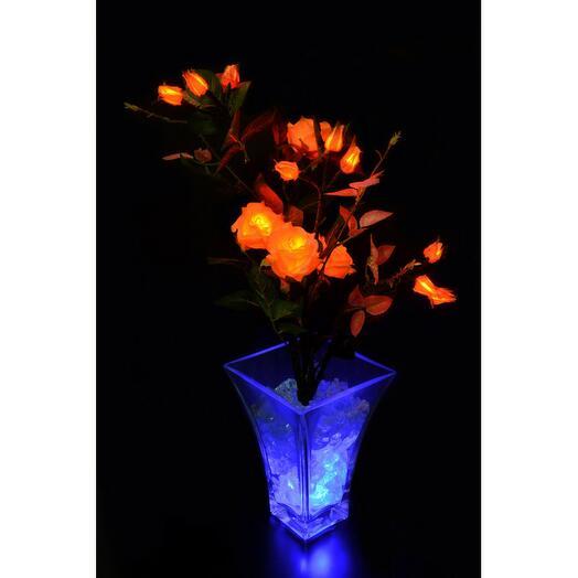 Светодиодные цветы Розовый куст Жёлтые (син)