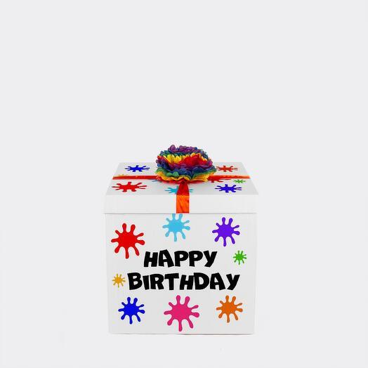 """Коробка-сюрприз """"HAPPY BIRTHDAY"""" без шаров"""