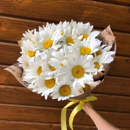 Flowers Lovers - 15 ромашек в крафт оформлении