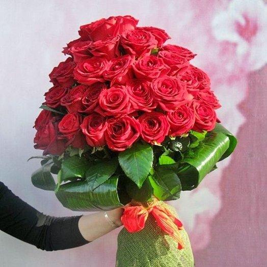 Букет Алая Пирамида: букеты цветов на заказ Flowwow