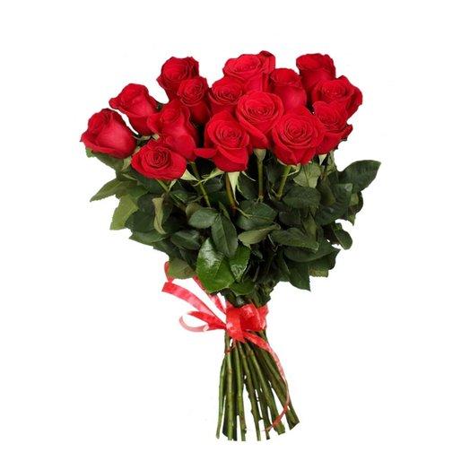 15 элитных высоких голландских роз: букеты цветов на заказ Flowwow